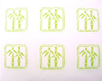 Bamboo Stickers - Traditional Japanese Stickers - Japanese Bamboo  (S227)
