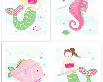 Popular items for mermaid seahorse on Etsy