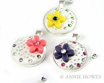 Swarovski Crystal Pendant Jewelry DIY Kit from Annie Howes. Makes 5.