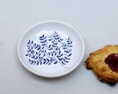 Ceramic saucer - waterbird - sea level