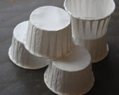 24 White Souffle Cups,--Paper Baking Cups--Cupcake Cups--Dessert Cups--Portion Cups