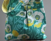 Blue Poppies Blue Market Bag - Reversible - Joel Dewberry Fabric