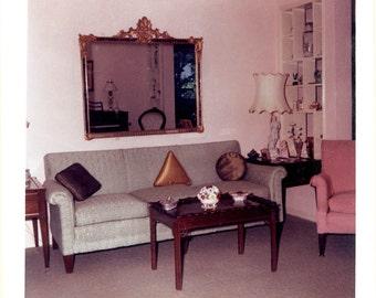 Mid Century Modern Living Room Color Photograph Print