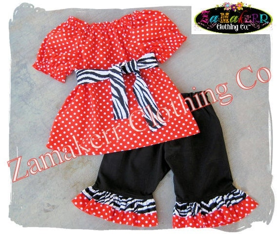 Custom Boutique Clothing Halloween Orange Toddler Infant Baby Girl Black Zebra Pant Outfit Set 3 6 9 12 18 24 month size 2T 3T 4T 5T 6 7 8