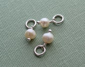 Add a freshwater pearl - 5mm freshwater pearl dangle - for SWD wax seal jewelry
