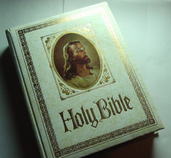 holy bible king james version red letter by goodlookinvintage