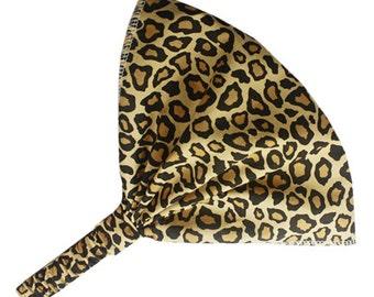 Leopard Headband, Funky Bandana Headband, Extra Wide Headband, Expandable Headband, Wide Cotton Headband, Cute Animal Print Headband