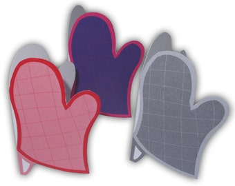 Oven Mitts Baking and Cooking Gift Tags Printable Color Digital PDF (custom colors available)