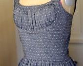 Sample SALE 1950's Shelf Bust Dress From a Vintage Pattern