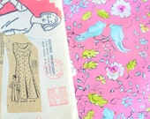 Reserved for Cindy Custom Vintage 50's 60's Day Dress from a vintage pattern