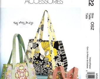 McCalls 5822 SEWING PATTERN Kay Whitt Design Bag Purse Boutique Handbag New and Uncut