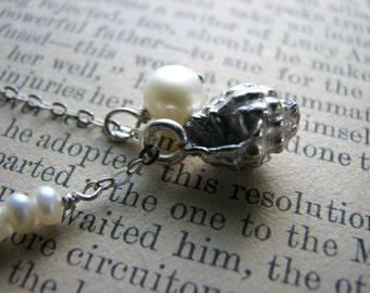Hawaii Beach Shell Necklace No. 2 - Sterling Silver - Kauai Maui Big Island Oahu Molokai Travel Honeymoon