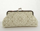 Taupe Bridesmaid Clutch Ivory Ironworks Purse