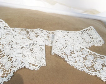 lace, ecru, off white, floral, 30 inches, F, supplies