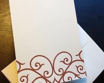 Letterpress Boxed Imprintables (Arabesque Brown)
