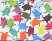 Plantable Seed Paper Confetti Turtles - Beach Wedding Favors - Flower Seed Paper Turtles