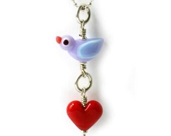 Love Bird pink necklace