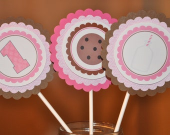 Milk and Cookies. Centerpiece Set. Centerpieces. Cookies and Milk. Set of 3. Choose boy or girl.