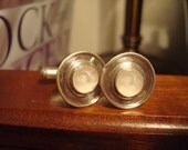 Enchanting Sterling and Moonstone Cuff Links UNISEX