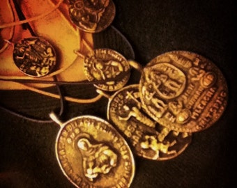 INFINITO DIOS talisman amulet Virgin Mary Birhen pendant Oracion medallion medal Anting Anting Agimat Philippines