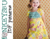 Airy Ruffled A-line Dress PDF eBook Pattern INSTANT DOWNLOAD
