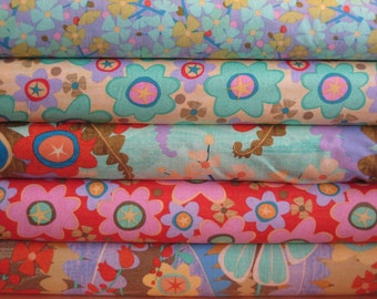 Fern Valley by Cary Phillips Set of 5 prints,  Fat Quarter Combo set