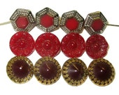 Vintage Maroon Buttons x1...