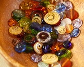 Assorted Glass Disk Beads