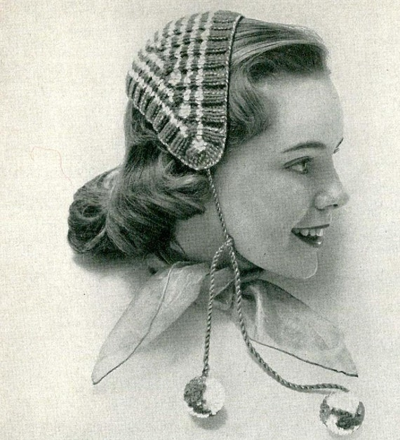 Knitting Pattern Head Scarf : Items similar to JIBBER - Knit Head Scarf Pattern (SNH117 ...