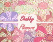Buy 1 Get 1 Free Shabby Boutique Flowers Doodle Digital Clipart Scrapbooking Digital Chic Graphics No.2