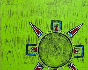 Original Mandala Art: A Safe Space Inspirational Meditative Reflective