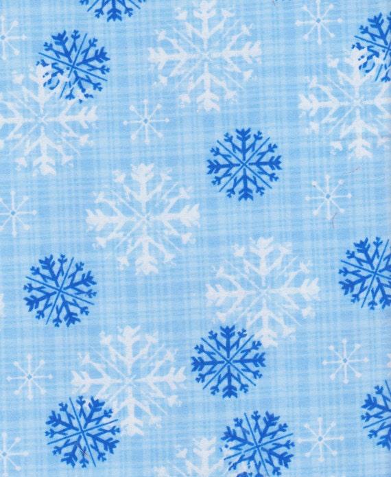 Snow Flake Flannel Fabric 100% Cotton 1 Yard ( Last Chance)