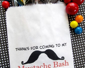 Mustache Candy Bags, Mustache Birthday party,  Favor bags, Candy Buffet, Mustache Birthday party, Sweets, Treat bags