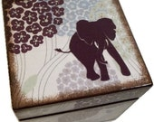Keepsake,Trinket, Jewlery, Decorative Box, Elephant Box, For Children, Baby Storage Box, Gift for Baby Personalized Gift, MADE TO ORDER