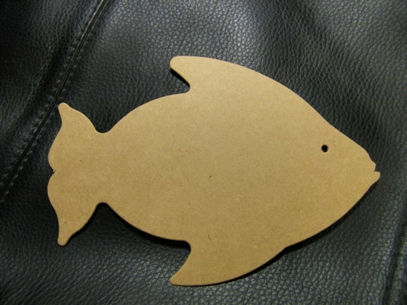 Large Fish Die Cut From Kraft Chipboard X 3 5 Tall Pack