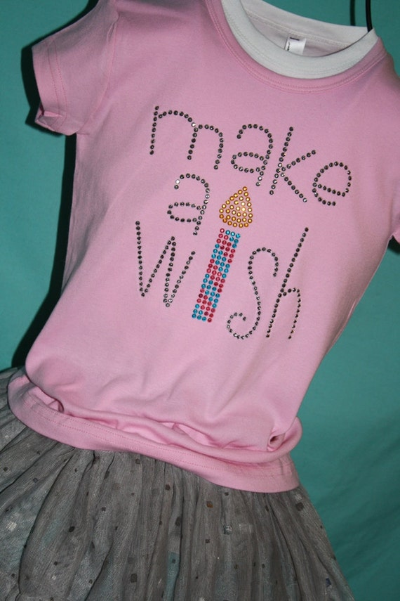 MAKE A WISH rhinestud tee by Daisy Creek Designs
