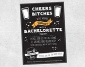 DIY Printable Bachelorette Party Invitation - Beer