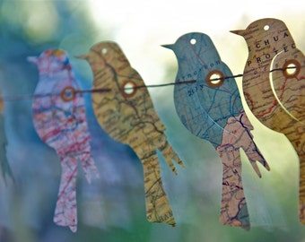 Party Decor, Party Garland, Garland, Paper Garland, Wedding garland, Birds of the World