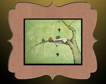 Whimsical Creeper Fantasy Art Print --- Art  Print Giclee -  Sweet Dreams