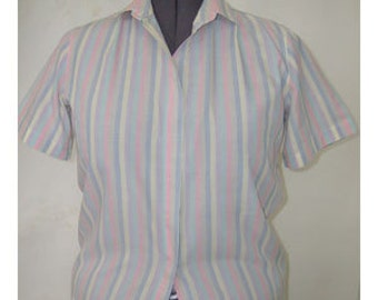 Candy striped polyester cotton shirt size 16
