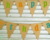 DINOSAUR ROAR Happy Birthday Banner on kraft cardstock
