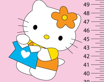 Personalized Vinyl Hello Kitty Growth Chart