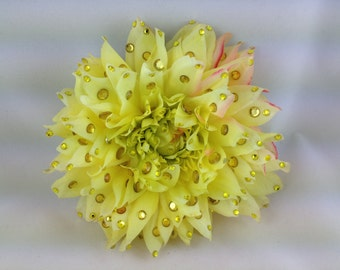 Large Yellow Dahlia Hair or anywhere clip