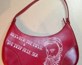 Rockabilly Tattoo Sailor with a Beard Leather Purse