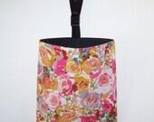Car Litter Bag - Car Trash Bag - Auto Litter Bag - Rose Blossoms