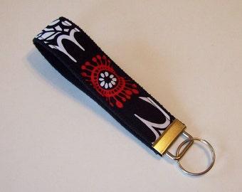 Key Fob Wristlet - Key Chain - Key Ring - Zesty Zinnia