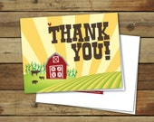 Printable thank you notes, Modern Farm, Instant download