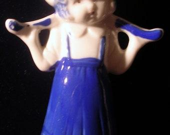 Vintage ceramic porcelain little Dutch girl made in Japan - REDUCED PRICE