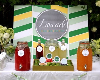 limeade bar wedding or party drink station printable files