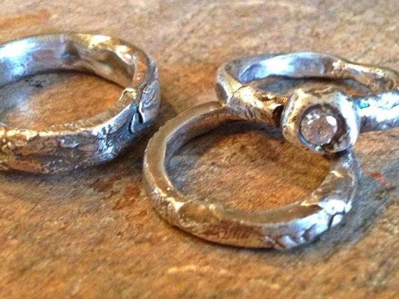 Wedding Rings Artisan Wedding Bands Handmade Rustic Wedding Rings